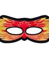 Carnavalskleding feniks vogel oogmasker rood kinderen
