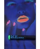 Carnavalskleding fluor groene blacklight mascara