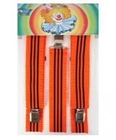 Carnavalskleding fluoriserende bretels oranje