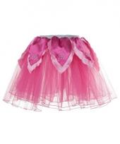 Carnavalskleding fuchsia roze feeen rokje
