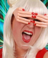 Carnavalskleding funny bril vingers