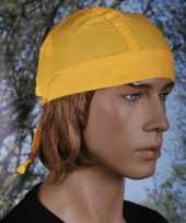 Carnavalskleding geel gekleurde bandana uni
