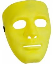 Carnavalskleding geel masker
