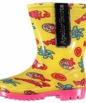 Carnavalskleding gele regenlaarzen zeedieren peuters