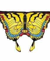 Carnavalskleding gele zwaluwstaartvlinder kindervleugels