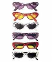 Carnavalskleding gestippelde sixties bril