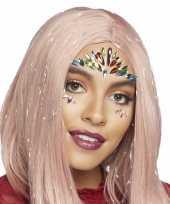 Carnavalskleding gezicht juwelen sieraden exotische prinses sticker set