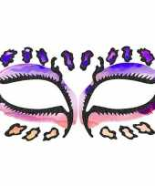 Carnavalskleding gezicht tatoeage luipaard