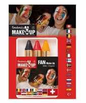 Carnavalskleding gezichts schmink stiften set belgie