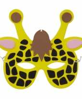 Carnavalskleding giraffes foam masker kinderen