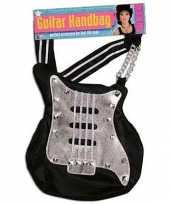 Carnavalskleding gitaren handtasjes zwart