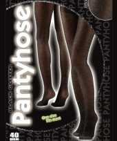 Carnavalskleding glansende panty zwart