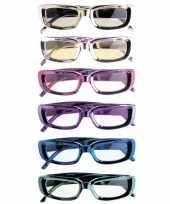 Carnavalskleding glimmende feestbrillen rechthoekig