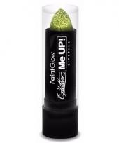 Carnavalskleding glitter lipstick goud 10080494