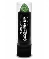 Carnavalskleding glitter lipstick groen