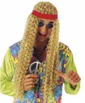 Carnavalskleding golvende pruik hippie