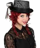 Carnavalskleding gothic hoge hoed kant