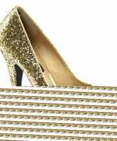 Carnavalskleding gouden glitter pumps open teen