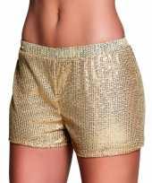 Carnavalskleding gouden hotpants maat m