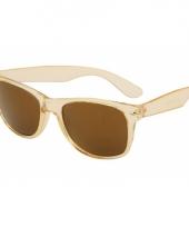 Carnavalskleding gouden retro zonnebril