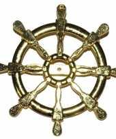 Carnavalskleding gouden roer zeeman broche