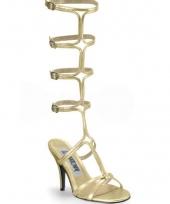 Carnavalskleding gouden sandaal pumps dames