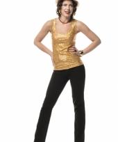 Carnavalskleding gouden topje dames