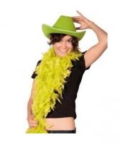 Carnavalskleding groene cowboy party hoed
