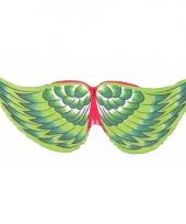 Carnavalskleding groene vogel kindervleugels