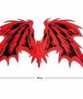 Carnavalskleding grote duivel vleugels rood