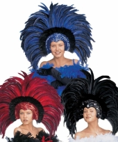 Carnavalskleding grote luxe hoofdtooi veren