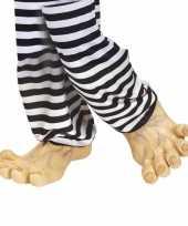 Carnavalskleding grote nep voeten vinyl