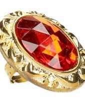 Carnavalskleding grote rode sinterklaas ring