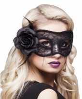 Carnavalskleding halloween oogmasker roos dames