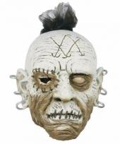 Carnavalskleding halloween wit gezicht masker
