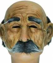 Carnavalskleding halve oude mannen masker