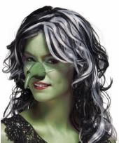 Carnavalskleding heksen neuzen groen
