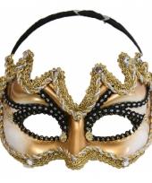 Carnavalskleding heren oogmasker goud zwart