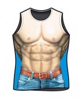 Carnavalskleding heren t-shirt macho print