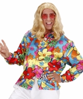 Carnavalskleding hippie flower power shirt heren