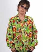 Carnavalskleding hippie shirts hartjes kinderen