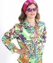 Carnavalskleding hippie shirts peace kinderen