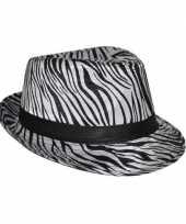 Carnavalskleding hoedje zebra print
