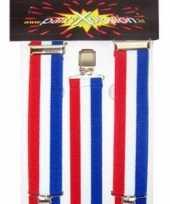 Carnavalskleding holland bretels rood wit blauw