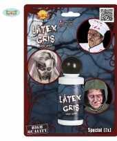 Carnavalskleding horror schmink grijze latex