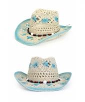 Carnavalskleding ibiza strand hoed blue white