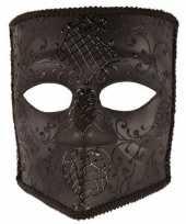 Carnavalskleding italiaans heren masker bauta zwart