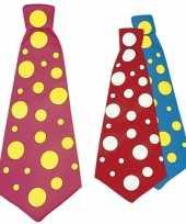Carnavalskleding jumbo stropdas stippen