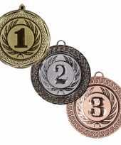 Carnavalskleding kampioen medailles set goud zilver brons
