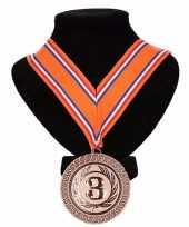 Carnavalskleding kampioensmedaille nr oranje rood wit blauw 10091800